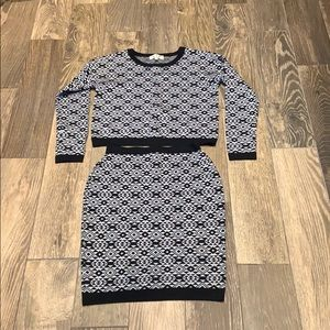 Sweaters - Aztec print knit co-ord size small